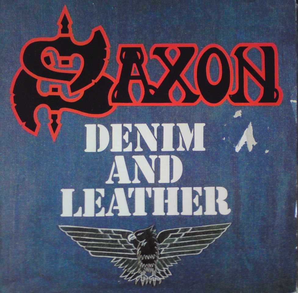 Saxon-denim and leather